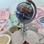 地球儀とお金