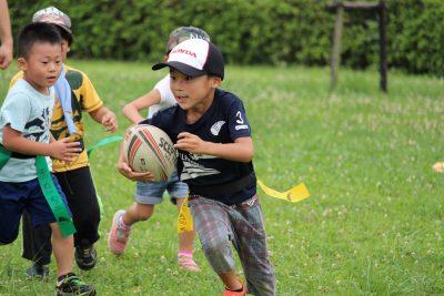 子供も楽しむタグラグビー